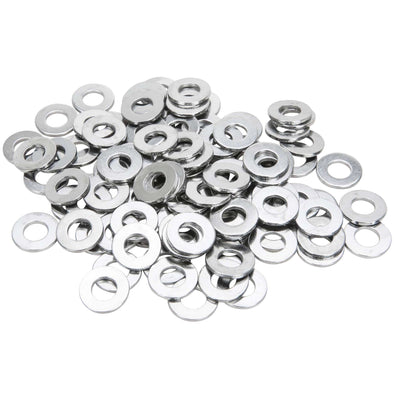 #8MM-F-100 8mm Chrome Plated Flat Washers Bag of 100