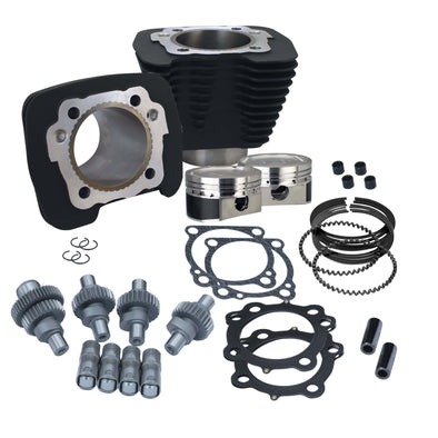 Hooligan Kit - 883cc to 1200cc for 2000 - 2018 Harley-Davidson Sportster Models - Wrinkle Black