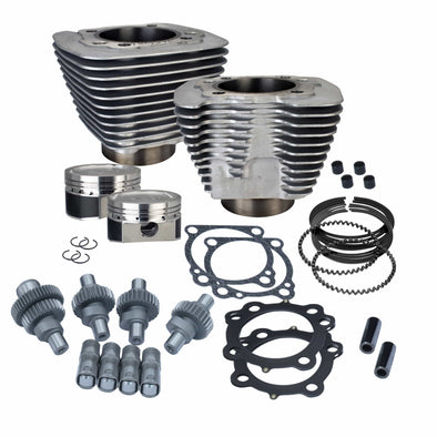 Hooligan Kit - 883cc to 1200cc for 2000 - 2018 Harley-Davidson Sportster Models - Silver