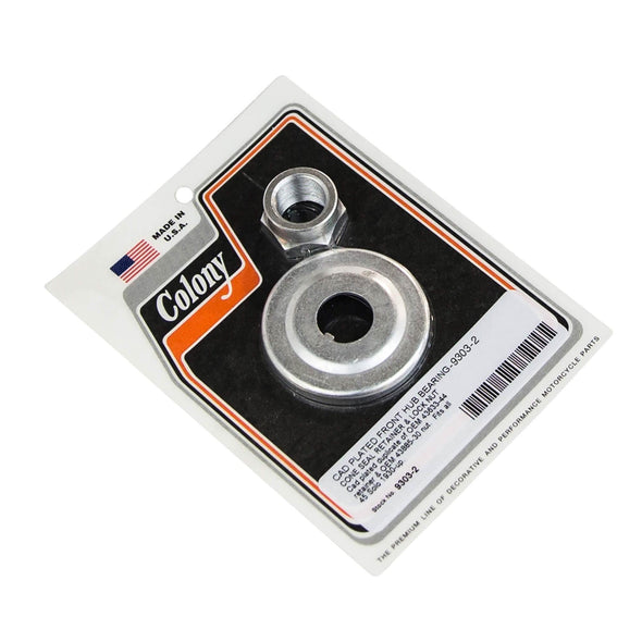 #9303-2 Front Hub Bearing Retainer & Lock Nut 45 Solo 1930-up OEM 4633-44 43885-30