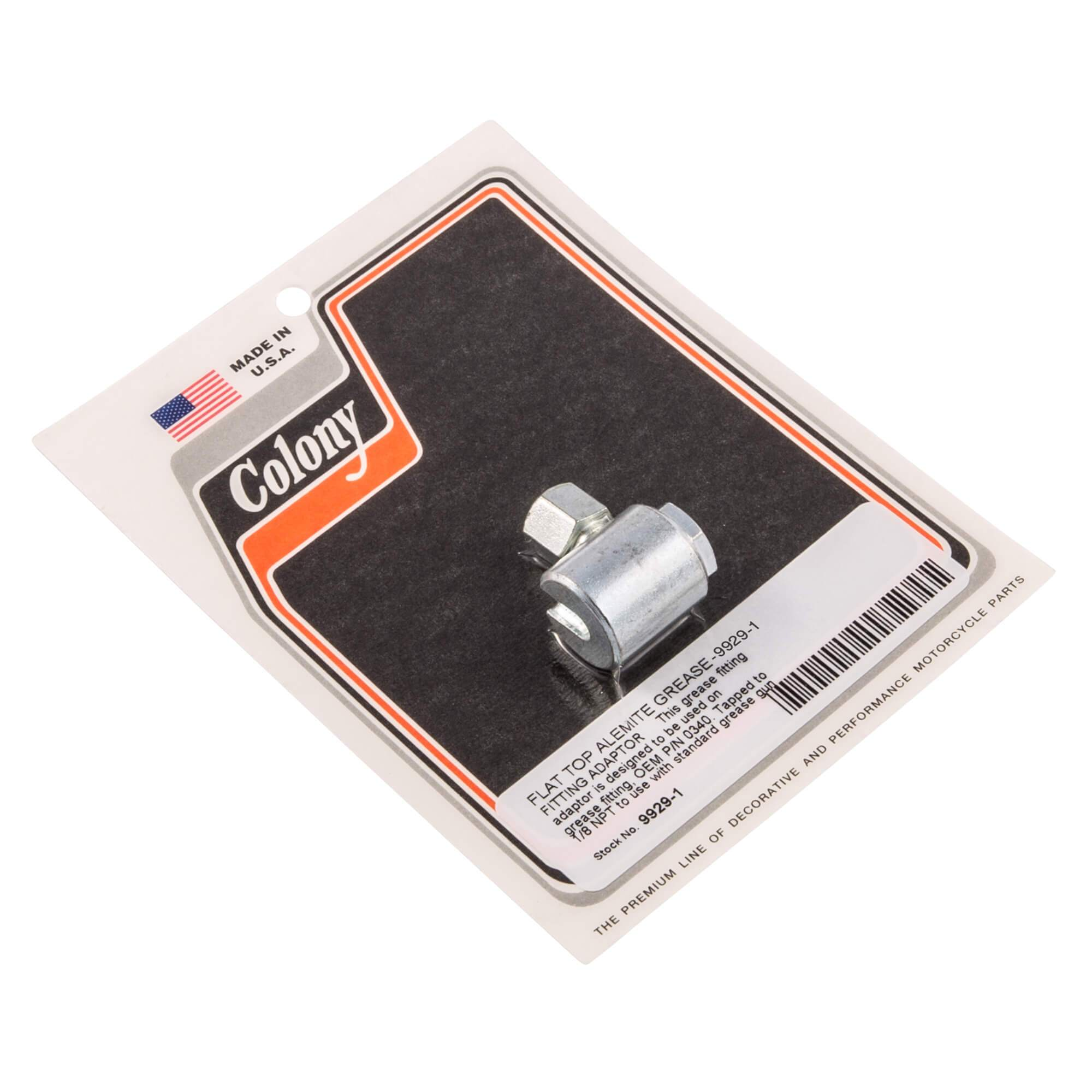 Flat Top Alemite Grease Fitting Adaptor Colony 9929-1