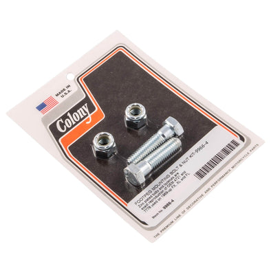 #9966-4 Footpeg Mounting Bolt Nut Kit Zinc Harley FX XL FL 69-up