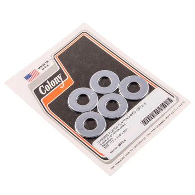 #9972-5 1/2 inch Chrome Plated Flat Washers 5 pack