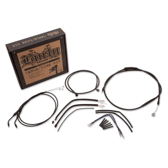 "Complete Handlebar Cable/Brake Line Kit for 12"" Ape Hanger Handlebars H-D 2012-17 FXDWG/FLD/FXB 12-14 FXDC with ABS"