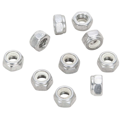 #NL-515 5MM (.80) Chrome Nylon Insert Nylock Locknut 10 pack
