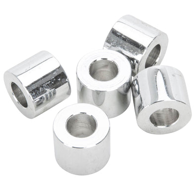 #SPC-014 5/16 ID x 1/2 length Chrome Steel Universal Spacer 5 pack