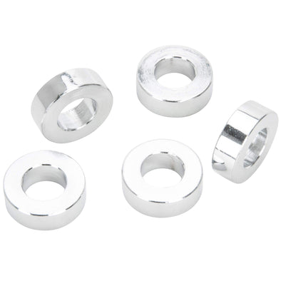 #SPC-022 3/8 ID x 1/4 length Chrome Steel Universal Spacer 5 pack