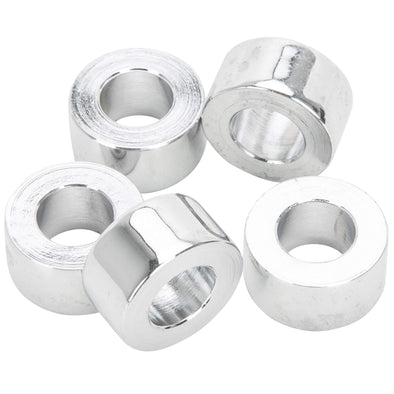 #SPC-023 3/8 ID x 3/8 length Chrome Steel Universal Spacer 5 pack