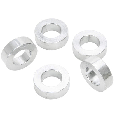#SPC-034 7/16 ID x 1/4 length Chrome Steel Universal Spacer 5 pack