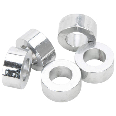 #SPC-035 7/16 ID x 3/8 length Chrome Steel Universal Spacer 5 pack