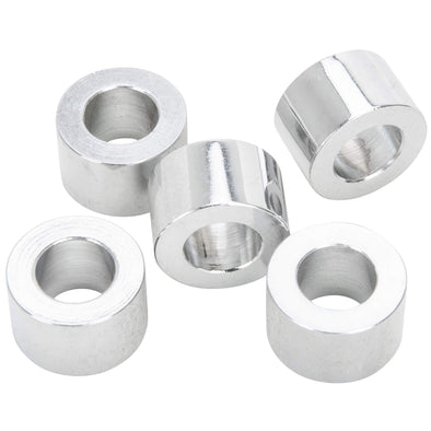 #SPC-036 7/16 ID x 1/2 length Chrome Steel Universal Spacer 5 pack