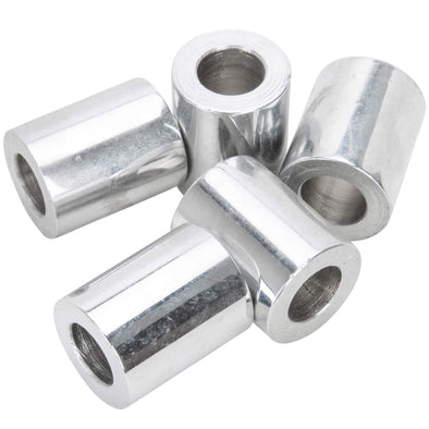 #SPC-038 7/16 ID x 1 length Chrome Steel Universal Spacer 5 pack