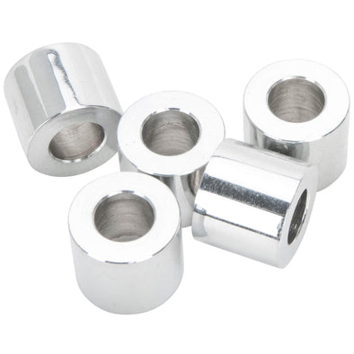 #SPC-042 3/8 ID x 5/8 length Chrome Steel Universal Spacer 5 pack
