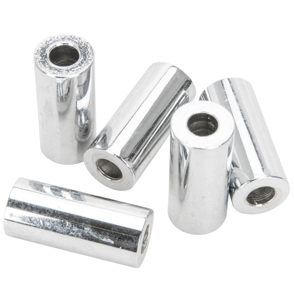 #SPC-048 1/4 ID x 1-1/4 length Chrome Steel Universal Spacer 5 pack