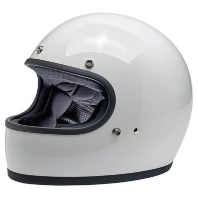 Gringo DOT/ECE Approved Full Face Helmet -  Gloss White