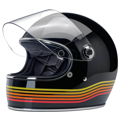 Gringo S DOT/ECE Approved Full Face Helmet - Gloss Black Spectrum