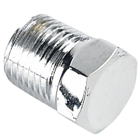 Hex Pipe Plug 1/8 inch NPT - Chrome