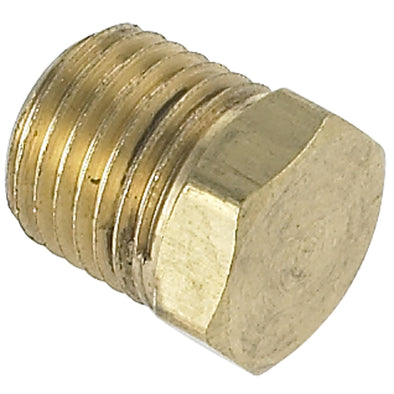 Hex Pipe Plug 1/4 inch NPT - Brass