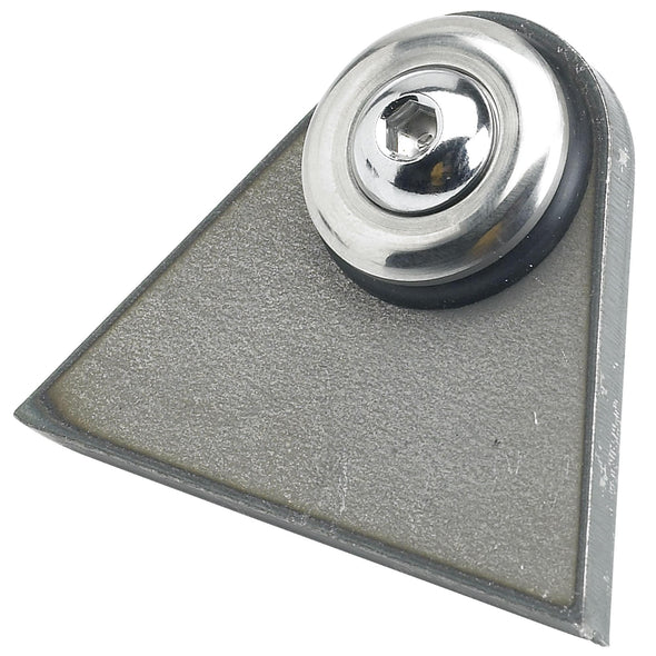 Rubber Mount Triangular Tabs - 1/4 inch thick - Aluminum Washer