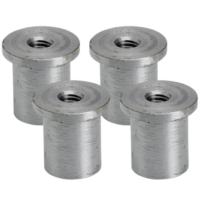 Tophat Blind Threaded Steel Bungs 5/16-18 thread  - 4 pack