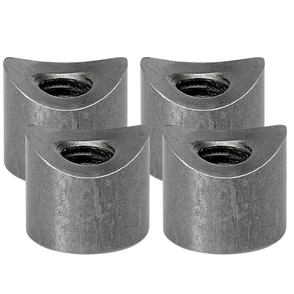 Coped Steel Bungs 1/2 inch long - 3/8-16 thread - 4 pack