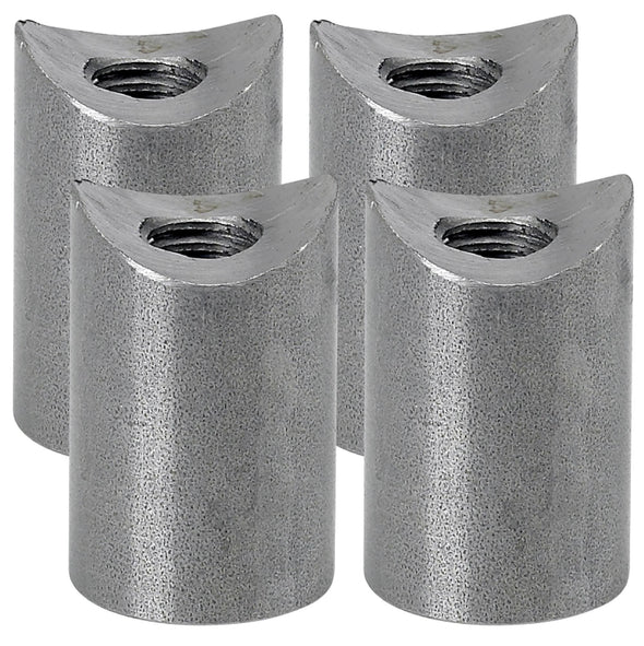 Coped Steel Bungs 1 inch long - 3/8-16 thread - 4 pack