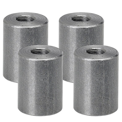 Threaded Steel Bungs 1 inch long - 5/16-18 thread - 4 pack