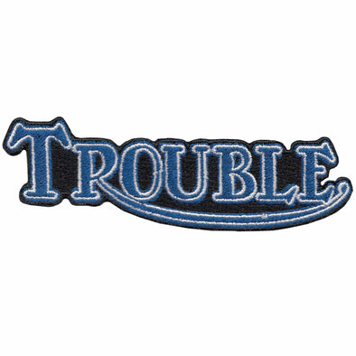 Trouble Triumph Motorcycle Patch