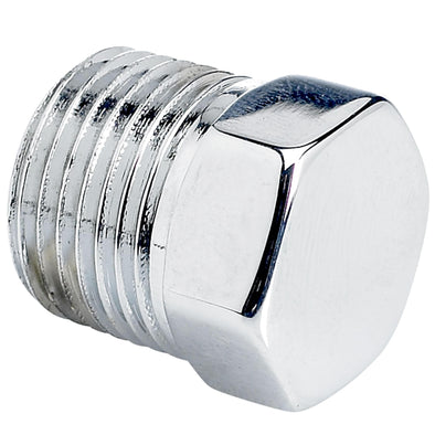 Hex Pipe Plug 3/8 inch NPT - Chrome