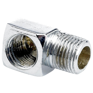 1/8 inch NPT x 1/8 inch NPT 90 degree Street Elbow - Chrome