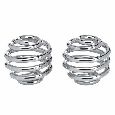 Solo Seat Springs - Barrel Style - 2 inch Chrome