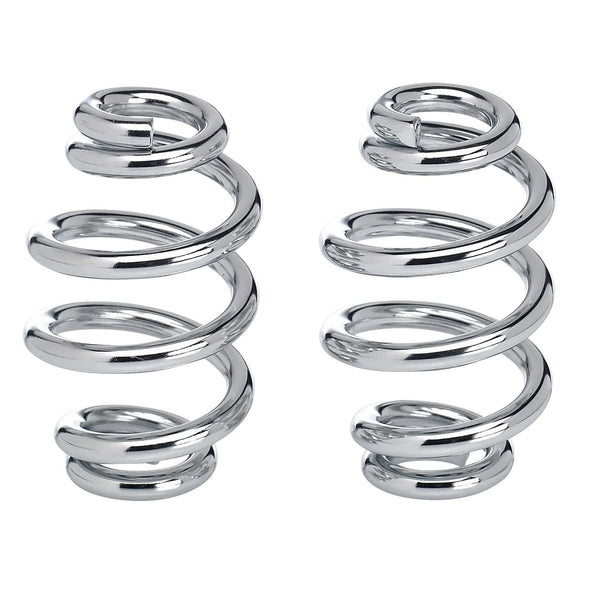 Solo Seat Springs - Barrel Style - 3 inch Chrome