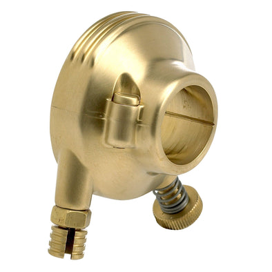 Deluxe Throttle Housing Satin Brass for 1 inch bars