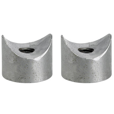 Coped Steel Bungs 1 inch Dia. 1/2 inch long - 5/16-18 thread - 2 pack