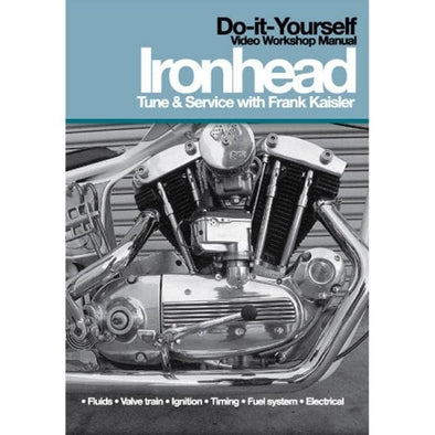 Harley-Davidson Ironhead Sportster Tune & Service Video Workshop Manual DVD with Frank Kaisler
