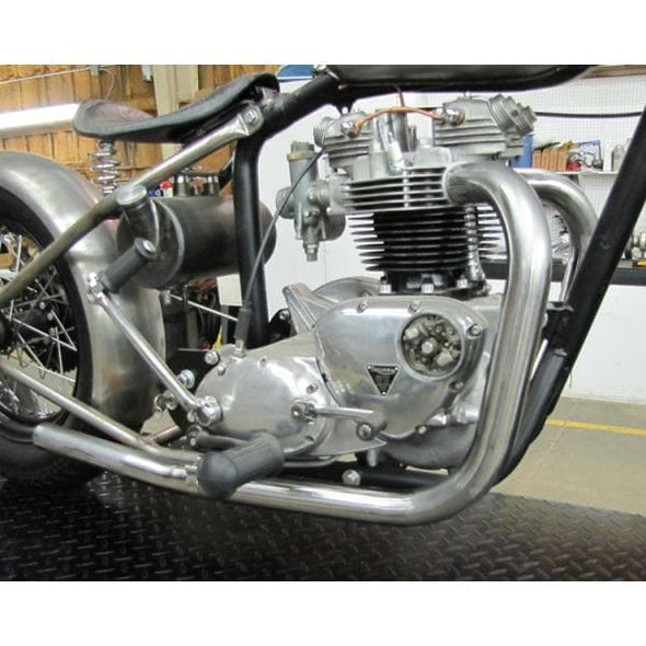 Triumph Upswept Drag Exhaust Pipes - Bare Steel