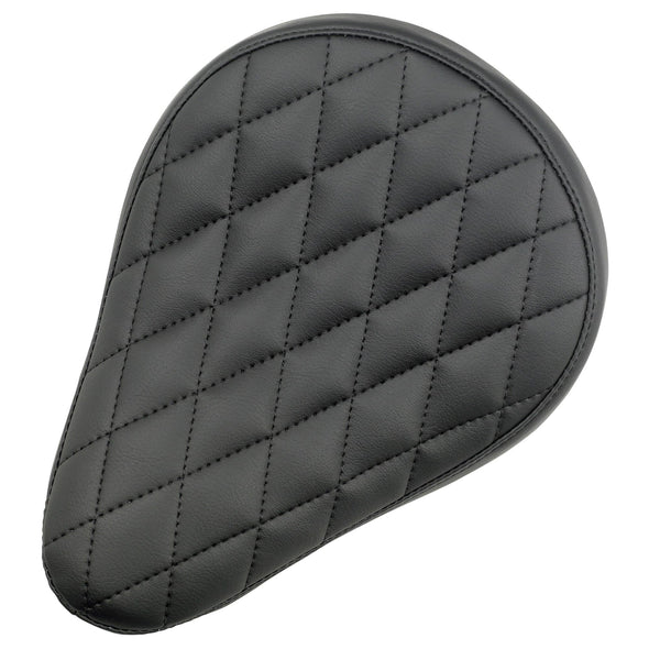 Diamond Pattern Solo Seat - Black