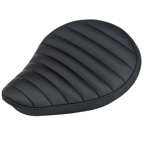 Horizontal Pleated Solo Seat - Black