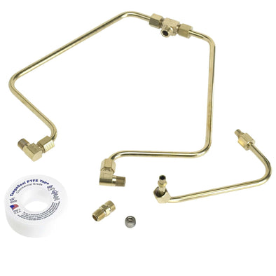 Shovelhead Rocker Box Split Oil Lines - Brass