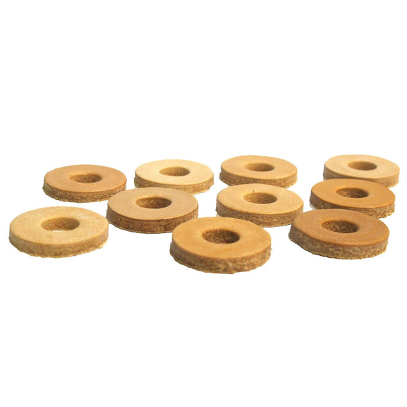 Leather Washers 10 pack - 3/8 inch Hole - 1 inch diameter x 1/8 inch thick