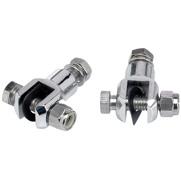 Foot Peg Chrome Clevis Mounts
