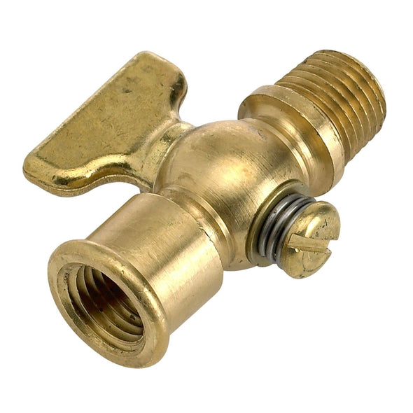 1/4 inch NPT Petcock All Solid Brass with T Handle