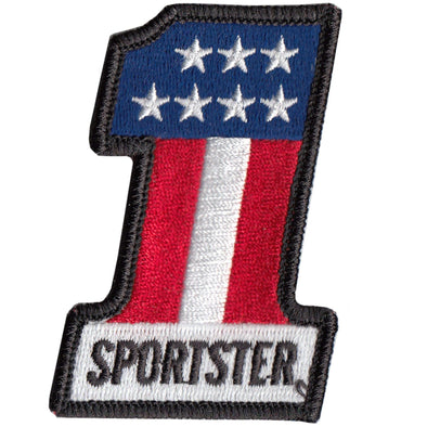 #1 Sportster Motorcycle Patch