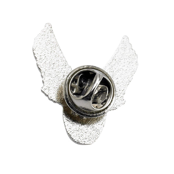 Winged Motorcycle Wheel Lapel Pin