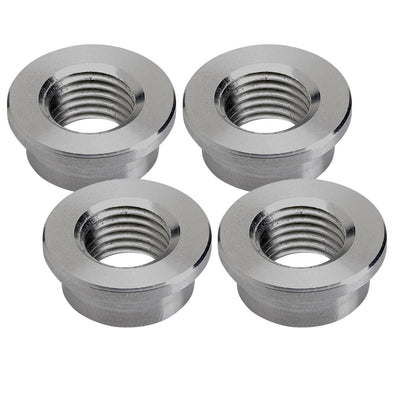 Petcock Bung 1/4 inch NPT Steel Weld-In - 4-pack
