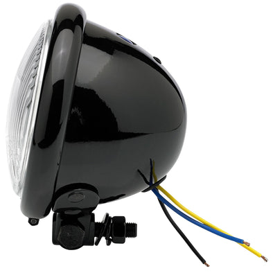 4-1/2 inch diameter Black Early Model Headlight