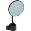 Round Motorcycle Mirror - Clamp On - Black with Retro Blue Glass