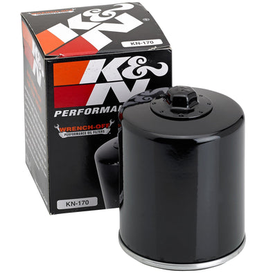 Oil Filter - Black - Big Twin Harley and Sportster Models - K&N Part #KN-170