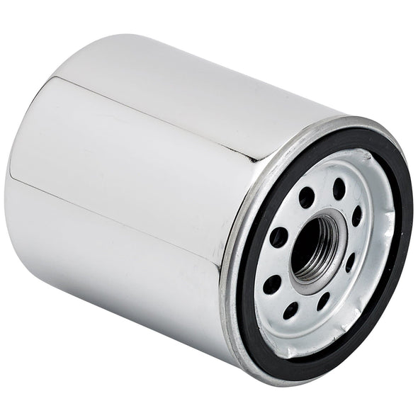Oil Filter - Chrome - Big Twin Harley and Sportster Models - K&N Part #KN-170