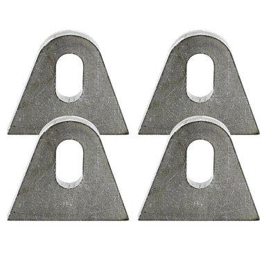 Tab #4 - Mild Steel Mounting Tabs 3/16 inch thick - 4 pack